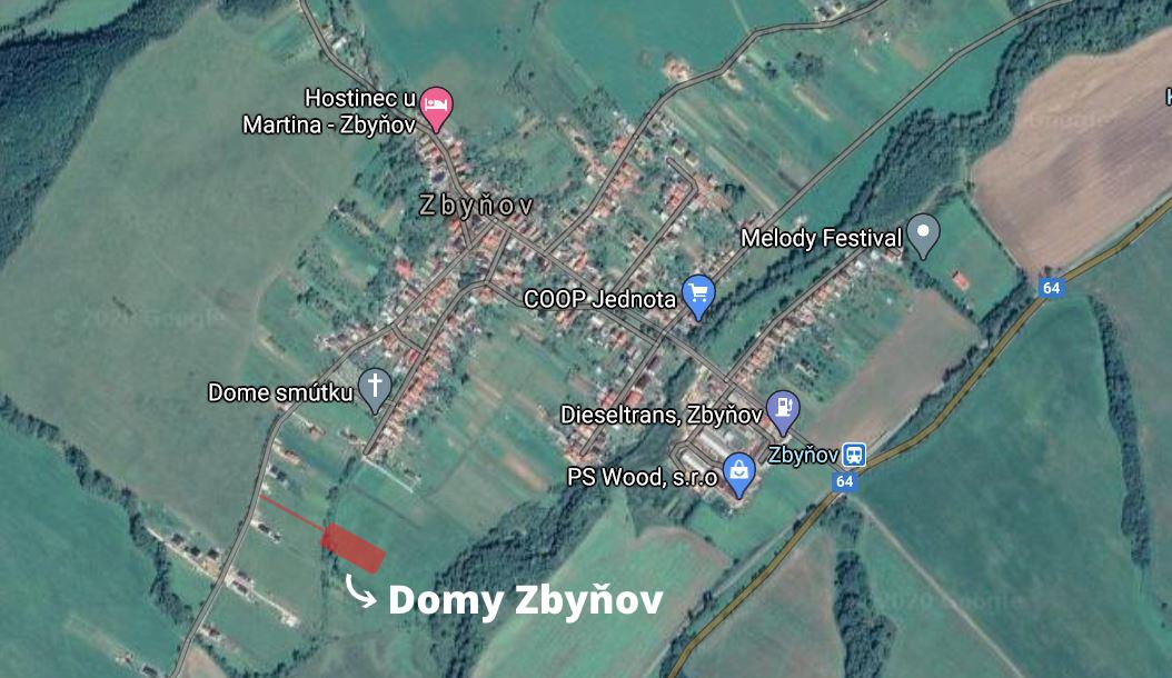 Domy Zbynov_lokalita